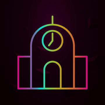 silo nolan style icon. Simple thin line, outline vector of building landmarks icons for ui and ux, website or mobile application