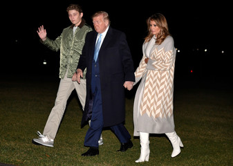 President Trump and family return to the White House after holiday travel in Florida