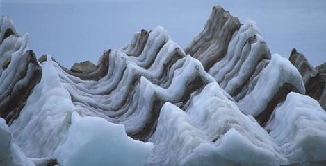 Stripes and Scallops, Iceberg, Glacier Bay, Alaska