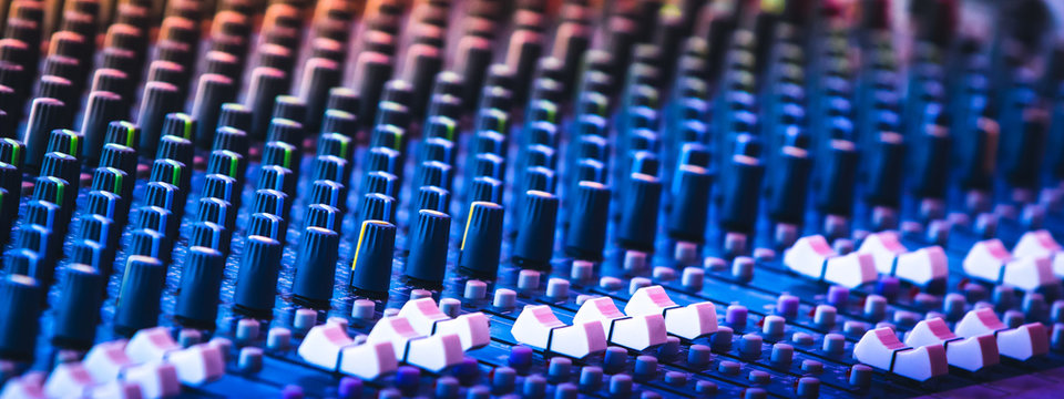 audio mixing console , In sound recording and reproduction, and sound reinforcement systems, a mixing console is an electronic device for combining sounds of many different audio