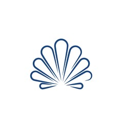 Shell vector icon illustration