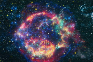 Fotorolgordijn Nasa star particle motion on black background, starlight nebula in galaxy at universe Space background. The elements of this image furnished by NASA.