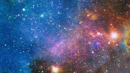Far being shone nebula and star field against space. Starfield stardust and nebula space. Galaxy...