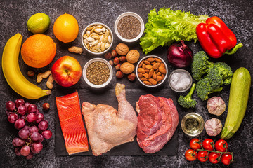A set of products for paleo, pegan and a whole 30 diets.