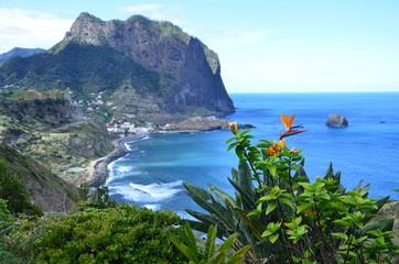 View over Porto da Cruz, Madeira, Portugal
