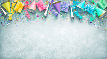 Background for carnival, birthday, New Year or other festivities