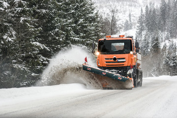 Snow plow truck, Winter highway maintenance