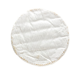Camembert cheese isolated on white background