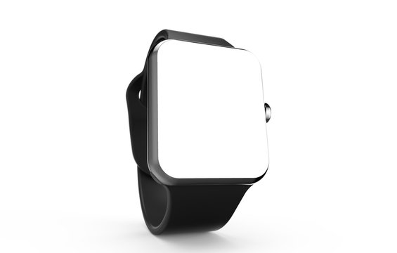 Modern smartwatch mockup isolated on a white background