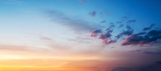 Foto auf Leinwand Blau Sunset or sunrise sky colorful background