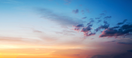 Foto auf AluDibond Blau Sunset or sunrise sky colorful background