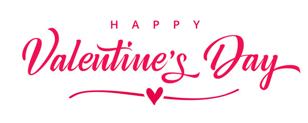 Valentines day background with heart in line and elegant typography of happy valentine`s day text . Vector illustration for wallpaper, flyers, invitation, posters, brochure, banners