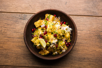 Aloo chaat or Alu chat is a popular street food originating from the Indian subcontinent, especially north India. it's an easy food recipe.