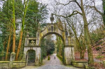 Portal eine Schlosses an der Grenze von Ratingen