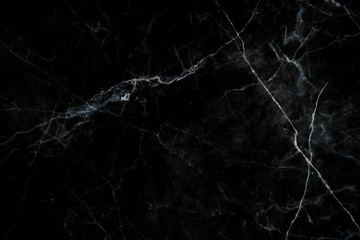 Wall Mural - Black marble natural pattern for background, abstract black and white