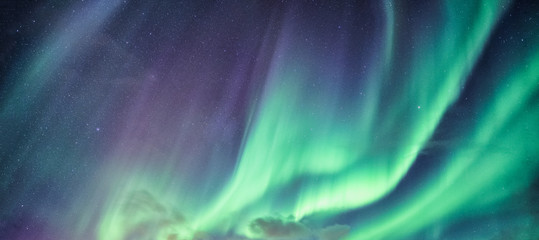 Aluminium Prints Northern lights Northern lights, Aurora borealis with starry in the night sky