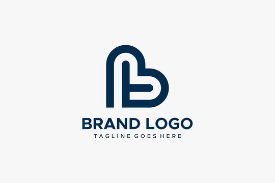 Abstract Letter T and B Linked Logo. Flat Vector Logo Design Template Element