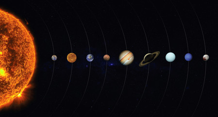 Foto auf AluDibond Nasa Solar system. Elements of this image furnished by NASA