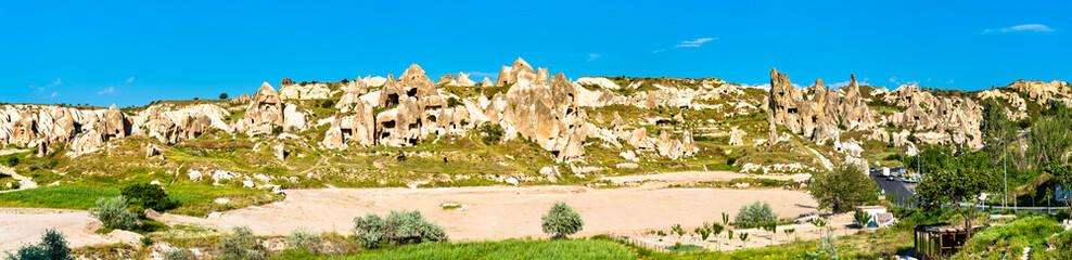 Foto auf Leinwand Blau Panorama of Goreme National Park in Cappadocia, Turkey