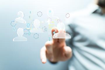 Network team. Social network. 3d illustration