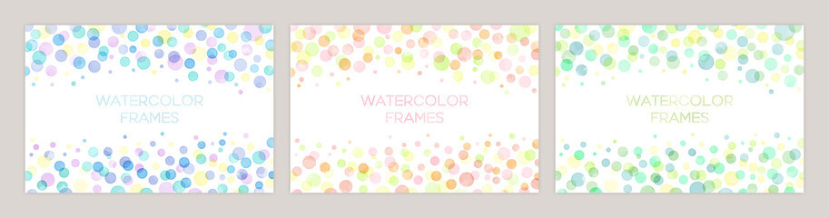 Estores personalizados con tu foto Set of colorful vector watercolor backgrounds with white space for text. Set of cards for wedding, greetings, birthday. backgrounds for web banners design.