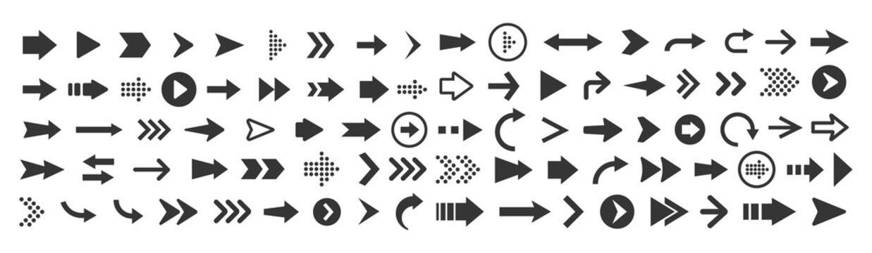 Vector illustration of arrow icons set