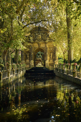 Foto op Plexiglas Historisch mon. Medici Fountain in Paris during ealry morning in the fall