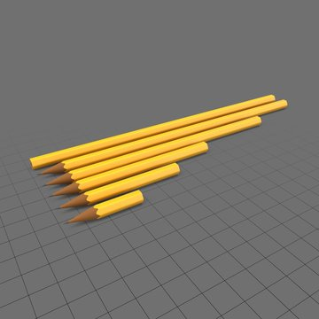 Pencils in various sizes