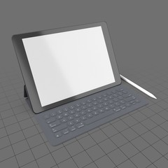 Digital tablet with keyboard