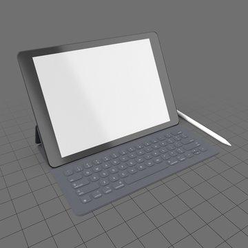 Digital tablet with keyboard