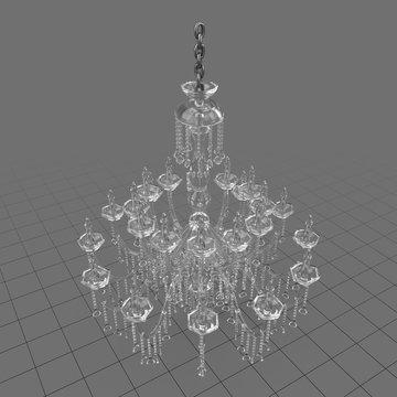 Modern glass chandelier