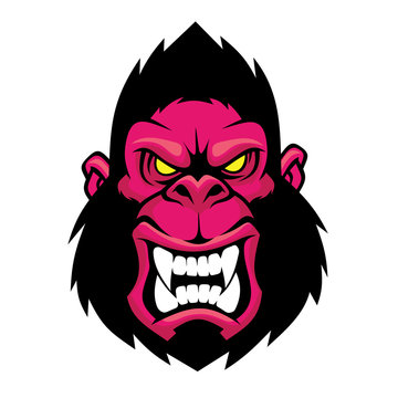 Angry gorilla head.