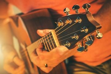 Fototapete - Acoustic Guitar Music