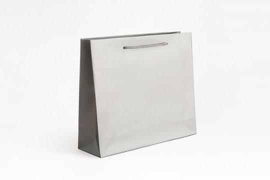matte silver paper bag big