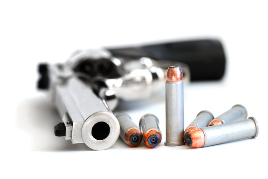 Bullets and Gun for Military or Self Defense Second 2nd Amendment