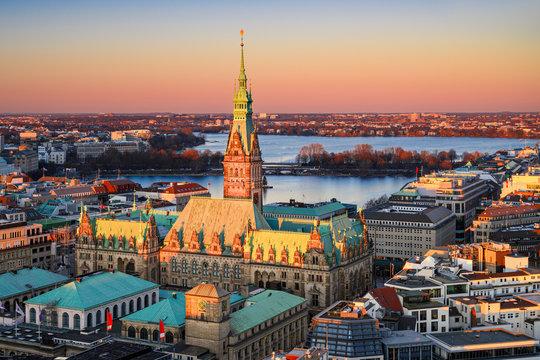 City Hall of Hamburg, Germany
