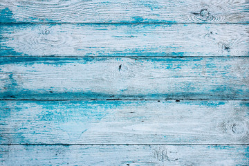 background of old retro blue vintage aged Wooden texture