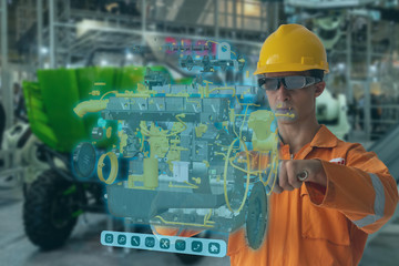 Engineering use augmented mixed virtual reality integrate artificial intelligence combine deep, machine learning, digital twin, 5G, industry 4.0 technology to improve management efficiency quality