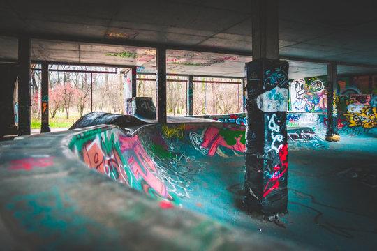 Skatepark w Warszawie Warsaw graffiti