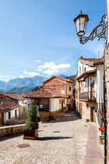 Cityscape of Potes, North Spain