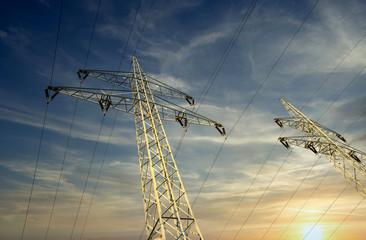 Power line pylons