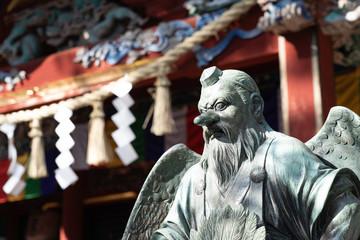"""Tengu"" Japanese long‐nosed goblin in Mt.Takao"