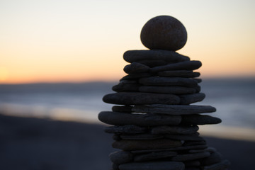 Photo sur Aluminium Zen zen stones on the beach
