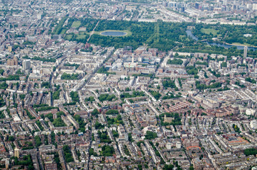 South Kensington and Hyde Park, Aerial View