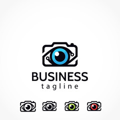 digital photography eye camera logo