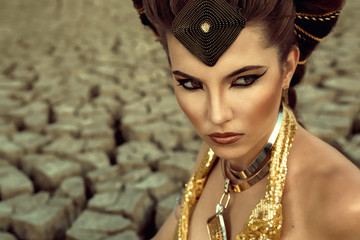Beautiful portrait of a legendary woman Cleopatra
