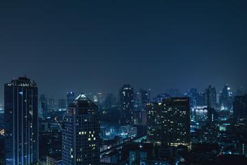 Modern Bangkok city at night Fotomurales