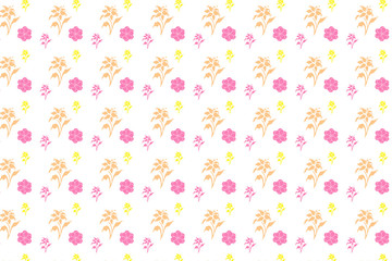 Wall Mural - flowers on seamless white background