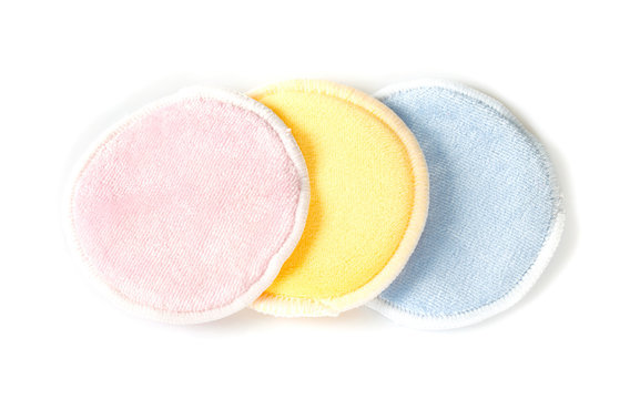 zero waste make up removal pads isolated on white