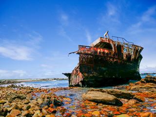 Türaufkleber Schiff Shipwreck